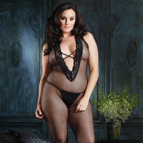 Leg Avenue Halter Bodystocking UK 16 to 18