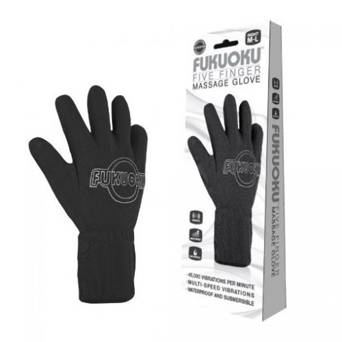 Fukuoku Vibrating Five Finger Massage Glove  Right Hand